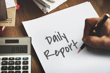 minutes: Financial Daily Report Business Strategy Minutes Concept