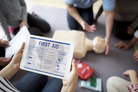 CPR corso di primo intervento Concetto Archivio Fotografico - 68380231