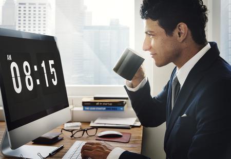 punctual: Clock Alarm Punctual Time Management Personal Organizer Concept
