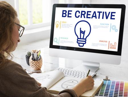 Be creative concept on computer screen Stock Photo