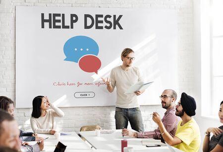 service desk: Communication Service Help Desk Concept