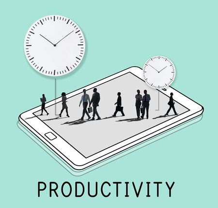 People Silhouette Time Management Concept