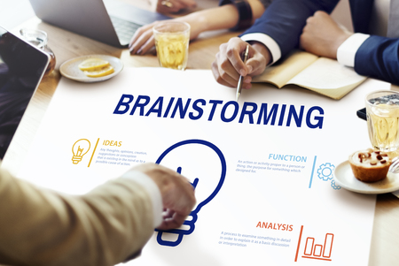 Brainstorming concept in a meeting Stock Photo