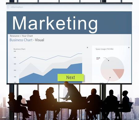 marketshare: Business Strategy Graph Analysis Marketing Concept
