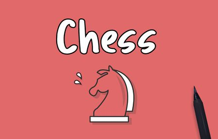 logic: Chess Logic Game Concept Stock Photo