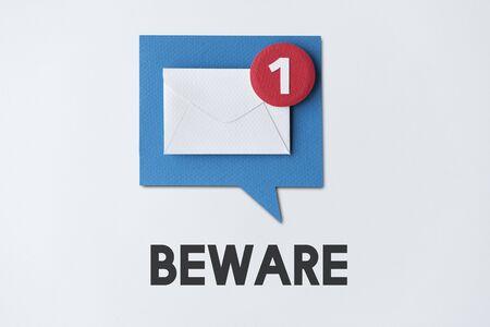 reminding: Email Alert Popup Reminder Concept