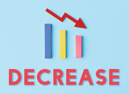 Recession Statistics Financial Failure Concept Stock Photo