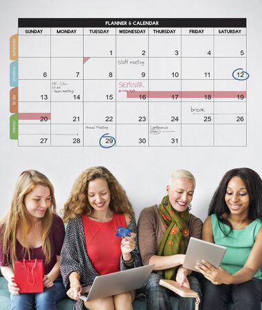 カレンダー プランナー組織管理の概念を思い出させる 写真素材
