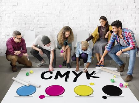 mixture: CMYK Creative Design Color Ink Mixture Printing Concept