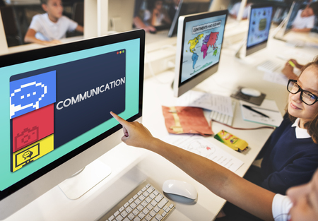 Communication concept on computer screen