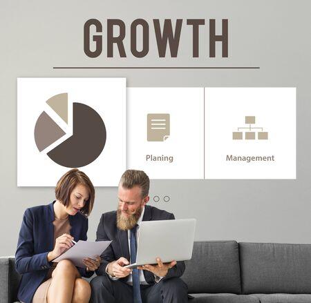 perfomance: Analysis Growth Progress Perfomance Concept
