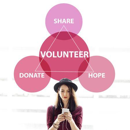 Charity Donations Support Volunteer Welfare Concept