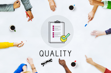 Quality Assurance Clipboard Icon Stock Photo