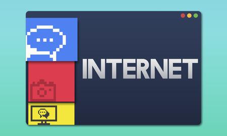 Internet concept Archivio Fotografico - 111746971
