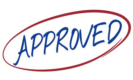 Approved Decision Option Regulation Result Yes Concept Stock Photo