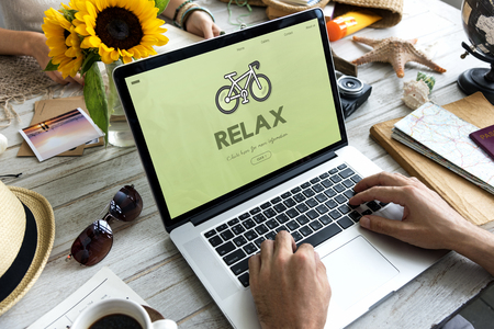 Relax concept on laptop screen