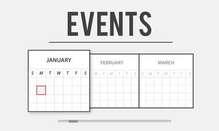 Events planning concept Zdjęcie Seryjne