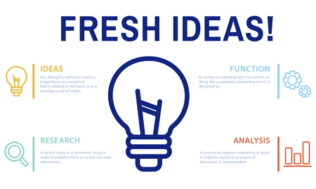 Fresh ideas concept