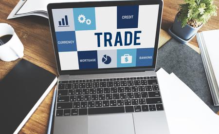 Concept de finances de comptabilité de commerce de l'économie Banque d'images - 68710864