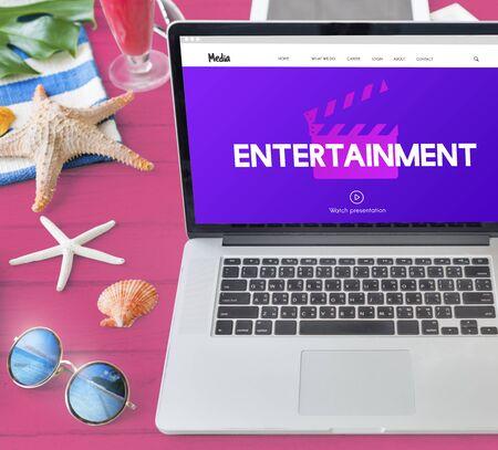movie director: Entertainment Media Movie Director Action Film Slate Concept