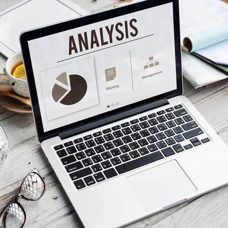 Analysis Growth Progress Perfomance Concept