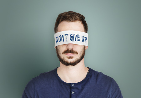 short phrase: Dontt Give Up Optimism Motivate Word Concept
