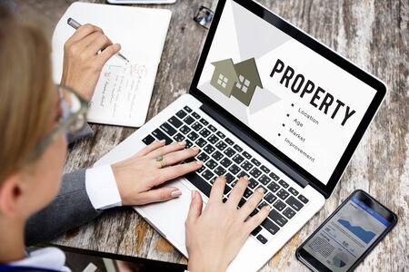 Concept de prêt hypothécaire immobilier Banque d'images - 68848850