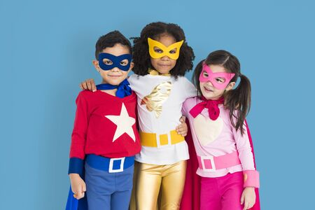 adolescence: Superhero Adolescence Child Kid Expertise Concept Stock Photo