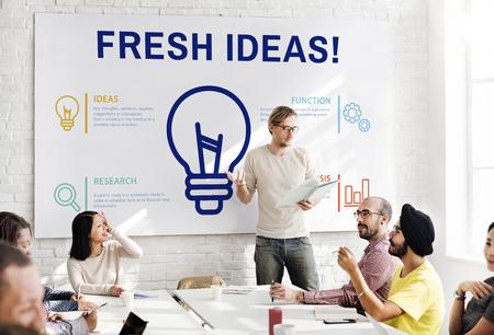 Fresh ideas concept in a meeting