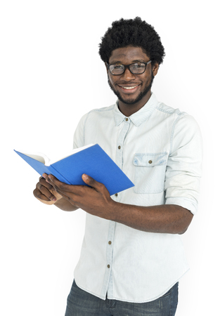 African Descent Holding Book Concept Stock Photo