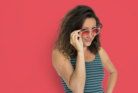 Portrait of woman with sunglasses 写真素材