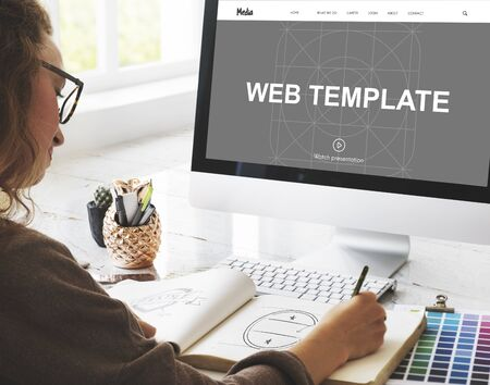 web template: Web Template Internet Tecnology Concept