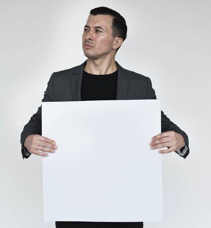 Man Confidence Self Esteem Banner Copy Space Portrait Concept
