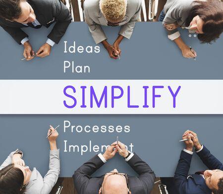 positivity: Simplify Positivity Attitude Motivation Concept Stock Photo