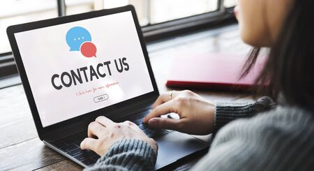 contact us: Contact Us Information Support Concept