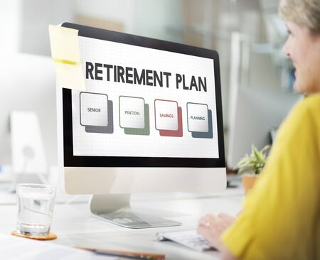 longterm: Retirement Plan Budget Investment Concept Stock Photo