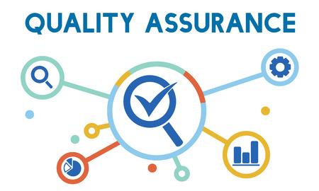 Quality assurance concept Stockfoto
