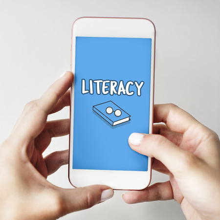 Literacy concept on mobile phone