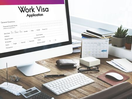 place of employment: Work Visa Application Employment Recruitment Concept