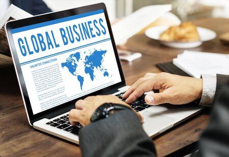 b2b: Global Business Corporate B2B Merchandise Concept