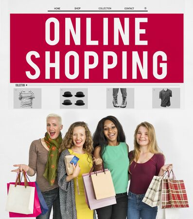 consumerism: Online Shopping Sale Consumerism Internet Concept