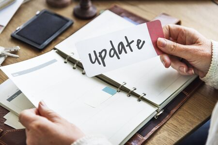 Update New Software Programming Upgrade Innovation Concept Stock Photo