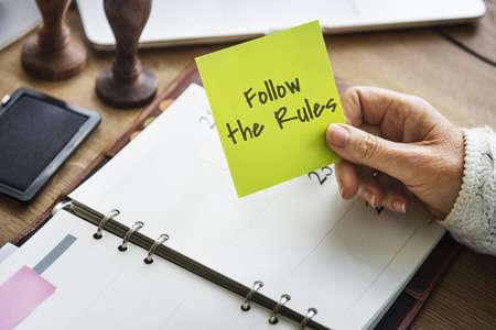Follow the Rules Society Regulations Legal System Law Concept