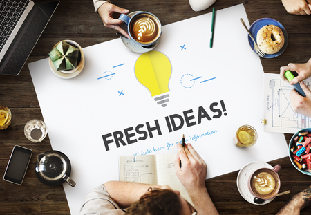 Fresh ideas concept while brainstorming Stock Photo
