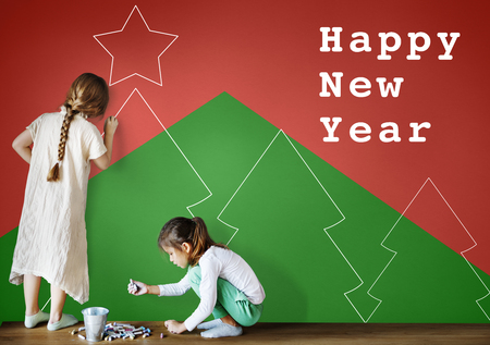 special education: Merry Christmas Happy New Year Concept