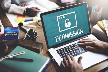 authorise: Permission Privacy Protection Security Concept