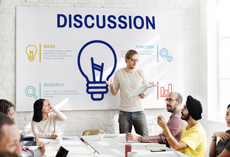Discussion concept in a meeting