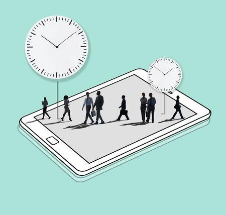 punctual: Time Management Duration Schedule Punctual Concept Foto de archivo