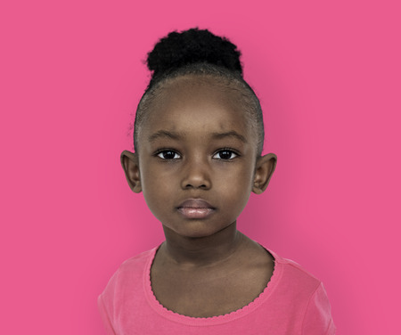 Little girl with expression