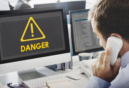 important phone call: Danger ALert Warning Notification Beeware Reminder Exclamation Concept